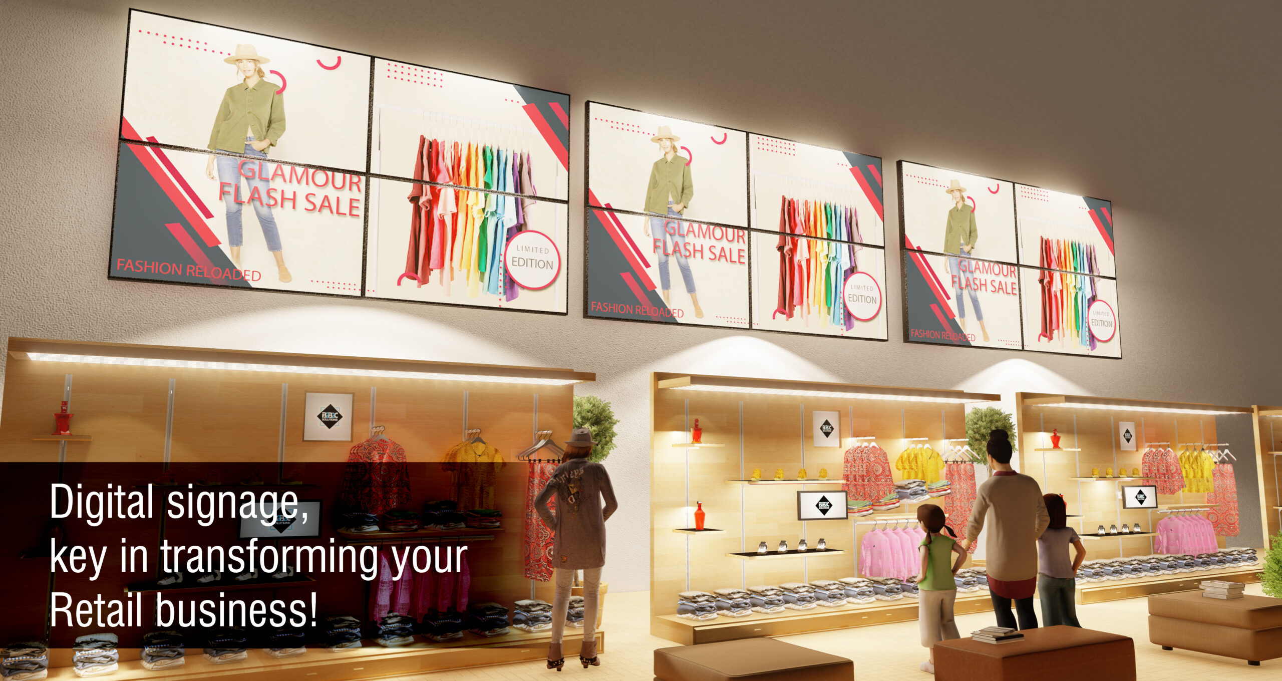 Digital signage, key in transforming your retail business
